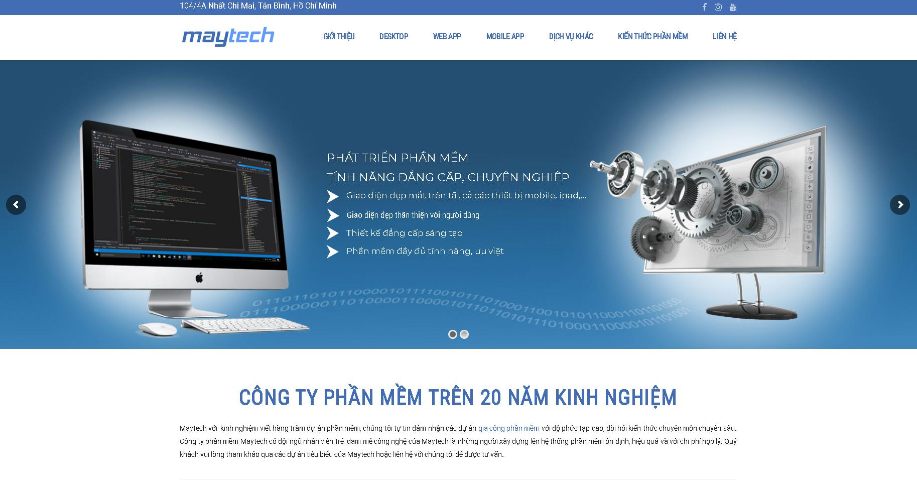 Công ty xây dựng website Maytech