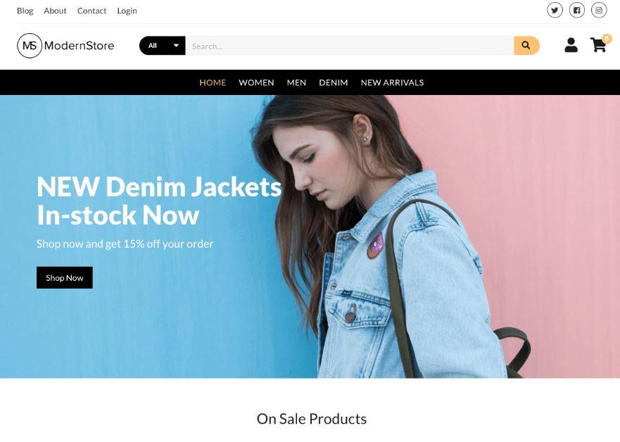 shop bán quần áo hiện đại