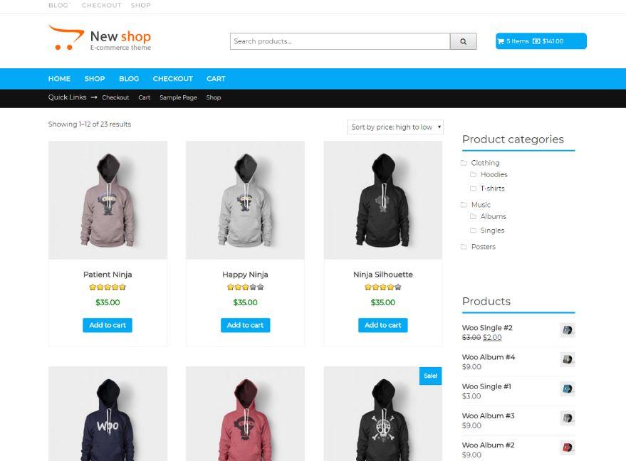 theme bán quần áo online