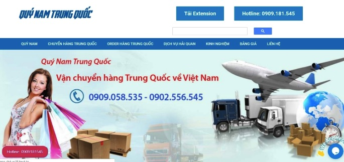 Quý Nam Sài Gòn - chuyên vận chuyển hàng Việt Trung