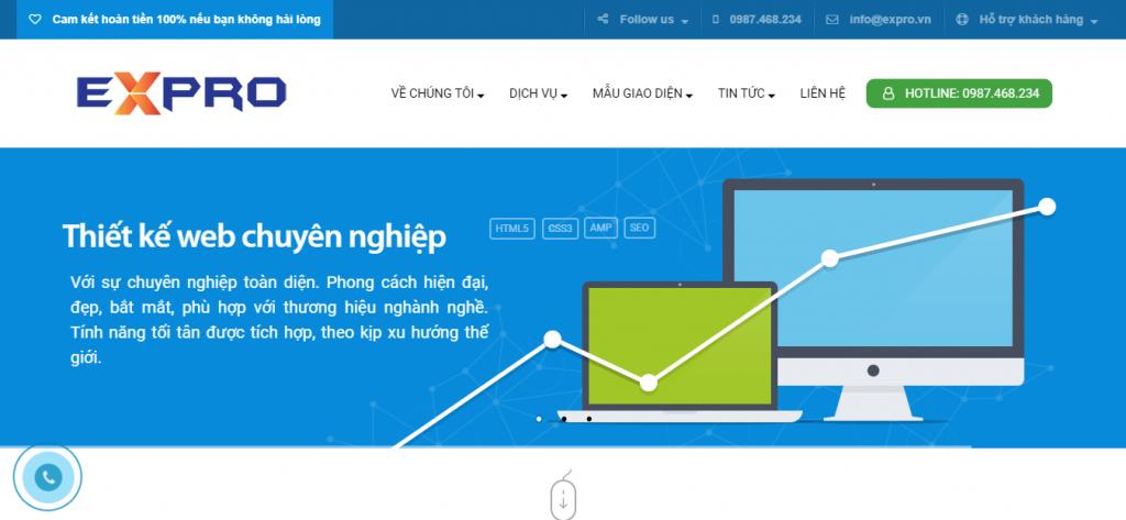 Thiết kế website Expro