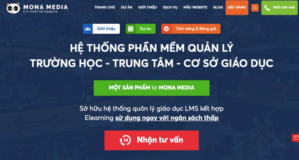 Web app - Phần mềm quản lý trung tâm ngoại ngữ, tiếng anh Mona eLMS