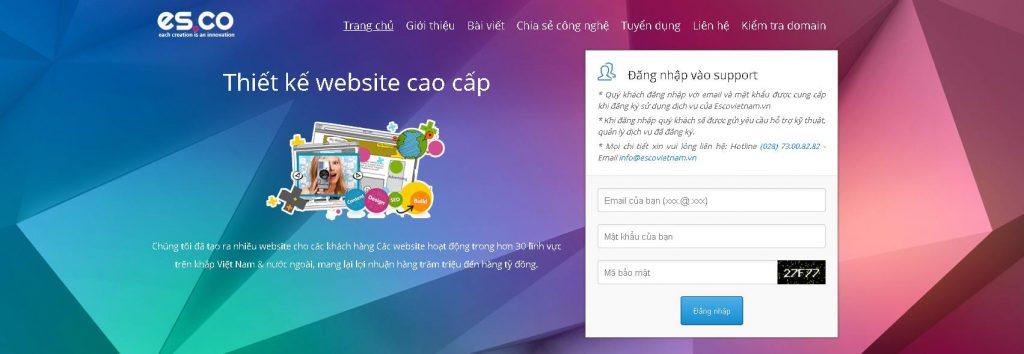 công ty thiết kế web wordpress esco VietNam