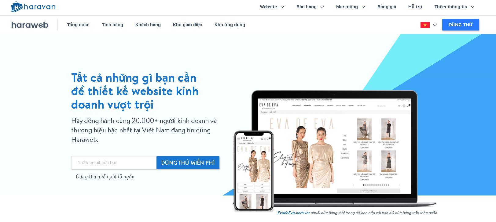Công ty thiết kế website Haravan