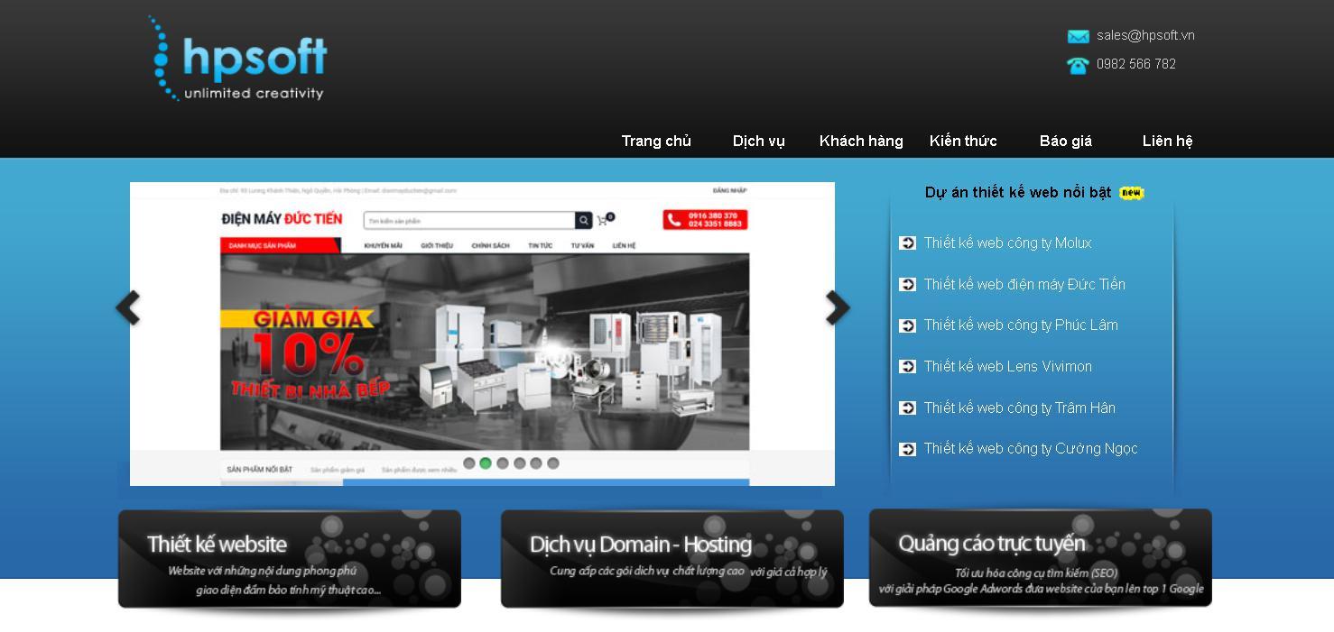 Công ty thiết kế website uy tín HP Soft