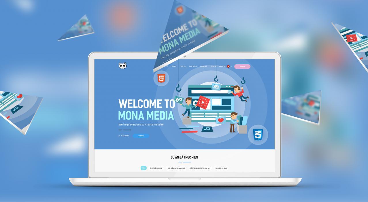 Công ty thiết kế website Mona Media ư