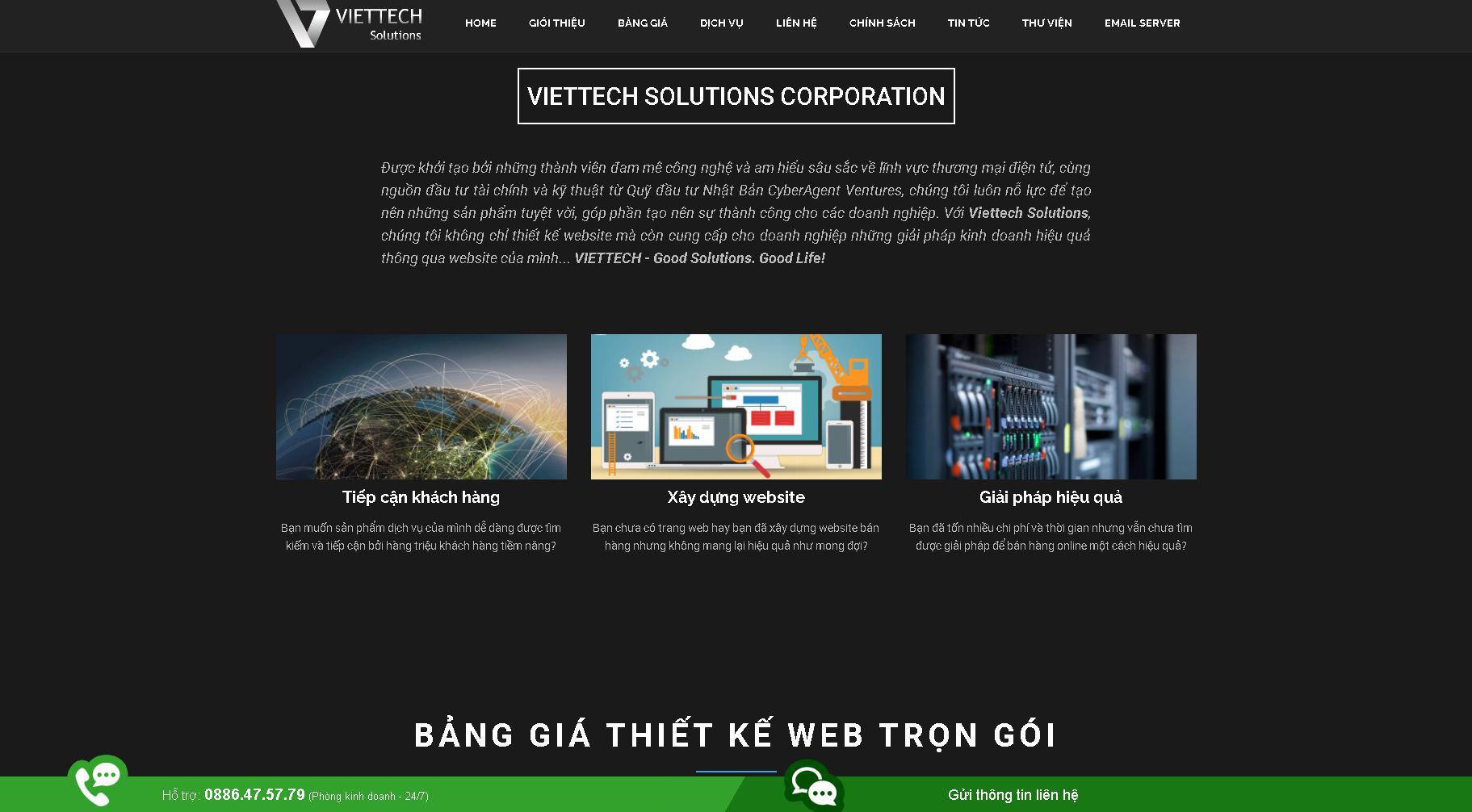 Công ty lập trình website chuyên nghiệp Viettech Solutions