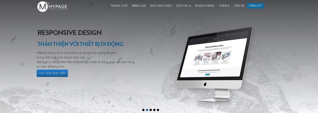 Công ty lập trình website du lịch Mypage