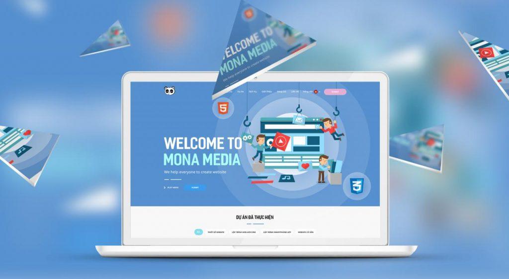Công ty thiết kế website spa - thẩm mỹ viện Mona Media