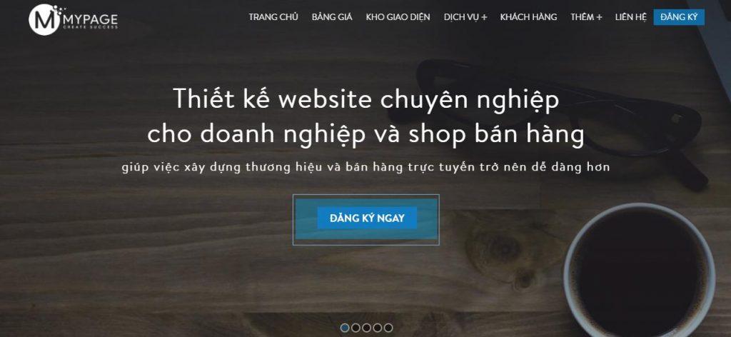 Công ty thiết kế web nhà hàng Mypage