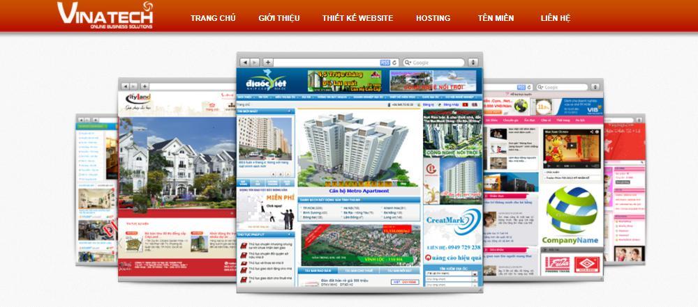 Công ty thiết kế website nhà hàng chuẩn SEO VINASITE Việt Nam