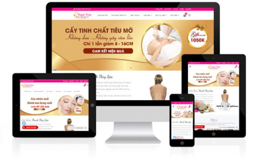 thiết kế website spa chuyên nghiệp