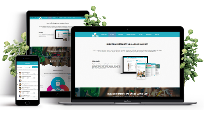 Phần mềm quản lý mầm nón miễn phí - Ikidz