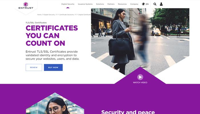 Dịch vụ đăng ký chứng chỉ số SSL Certificate - Entrust