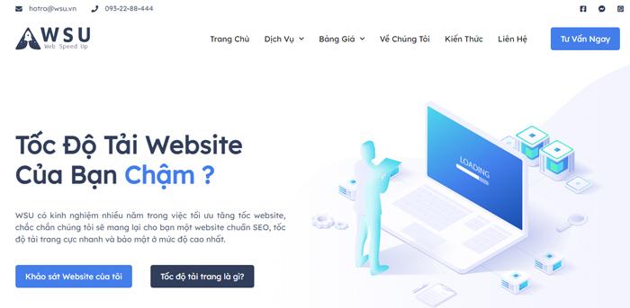 Dịch vụ tối ưu tốc độ tải trang web - WSU