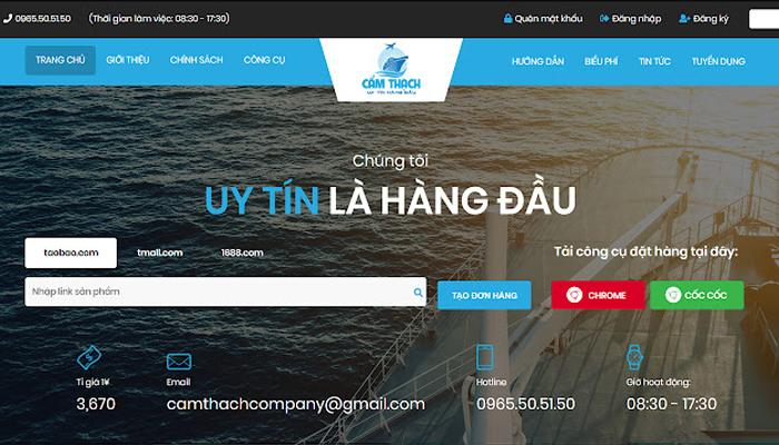 Trang web order hàng Trung Quốc giá rẻ - Camthachcompany.com