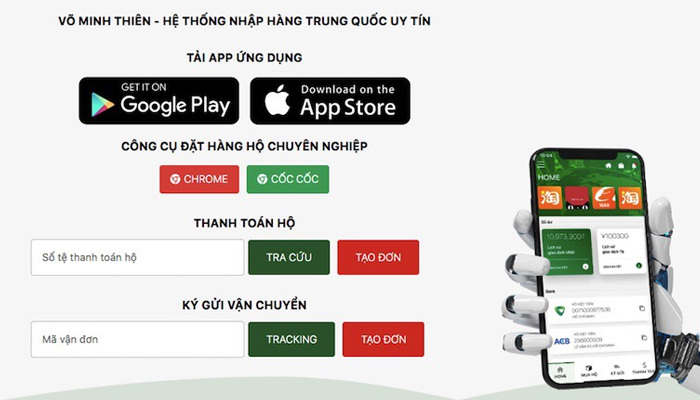 Website nhập hàng Trung Quốc - Vominhthien.com